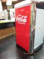 "Coca-Cola ""Drink Coca Cola In Bottles"" Napkin Dispenser/ Holder  - NEW"