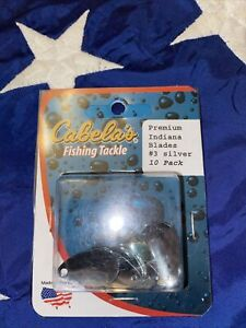 Cabelas Fishing Tackle - Indiana Blades - Size #3 - Silver