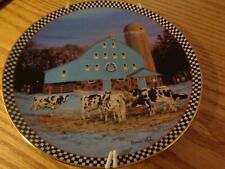 ceramic cow plate { danbury mint }