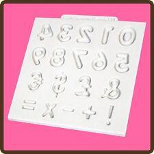 """4"""" Design Tappetino Fondente Glassa Torta Pasta di Zucchero Stampo Craft: numeri a Cupola"""