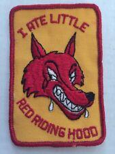 Vintage Patch NOS I Ate Little Red Riding Hood Sex 70s Funny Rat Hot Rod Biker