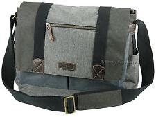 Troop London Laptop Large Messenger Cross Body Shoulder Bag - TRP0386 Grey