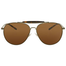 Polo Ralph Lauren Aged Bronze Olive Aviator Sunglasses