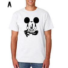 R 0290 THUG MOUSE T-shirt For Mickey and Disney Fans WEED Tee Funny Quality Dope