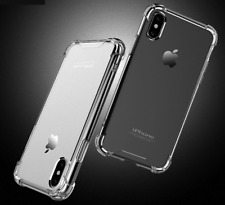 For Apple iPhone 11 XR PRO MAX 7/8/6 Silicone Clear Bumper Rubber Case Cover Lot