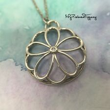 Excellent Authentic Tiffany & Co. Garden Flower Diamond Silver Necklace