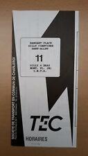 ► TEC Charleroi - guide horaire ligne 11, Ransart - Gilly - Montignies - IMTR