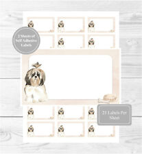 Shih Tzu Dog 42 Self Adhesive Stickers, Blank For Address Labels/Fun Gift Tags