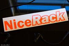 Nice Rack Neon Orange _sick euro JDM hellaflush race drift stance Decal Sticker