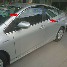 Stainless Steel Car Door Window Whole Set Frame Trims For Toyota Prius 2016 2017