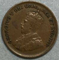 1936 CANADA One Cent Penny Copper Coin #SS780