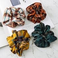Ladies Hair Band Scrunchie Ponytail Elastic Hair Bands Ties Rope Headwear Retro