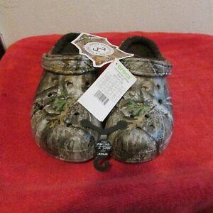 New Unisex Crocs Lined Realtree Edge Clogs, Casual Shoes. Men/ Women, Warm