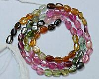 "TM-0006 Tourmaline Natural Gemstones Oval Plain 4x5mm 32ct 14"" Strand Wholesale"
