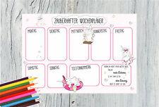 Schreibtischunterlage Wochenplaner Kalender witziges Einhorn Design DIN A3 50 Bl