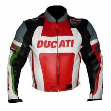 DUCATI MULTICOLOUR  MOTORBIKE RACING LEATHER JACKET CE APPROVED