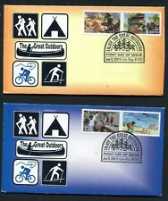 GREAT OUTDOORS * 2020 ISSUE* ALL 5 STAMPS ON 3 FDCs >