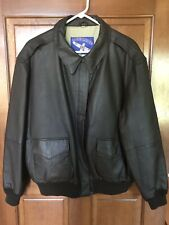 Airborne  Brown Aviator Bomber Leather Jacket XL