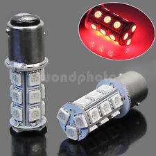 2× 1157 SMD 5050 18 Red LED Flash Car Vehicle Brake Tail Stop Light Lamp Bulb