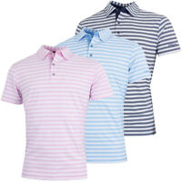 Bobby Jones Mens XH20 Del Mar Stripe Stretch Golf Polo Shirt 70% OFF RRP