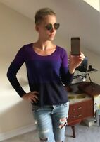 Sonia Rykiel 100% lambswool striped jumper TS / UK 10 RRP £500!