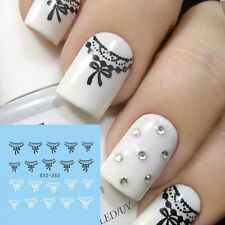 ❤️STICKERS WATER DECALS DENTELLE BIJOUX ONGLES + 200 STRASS NAIL ART MANUCURE