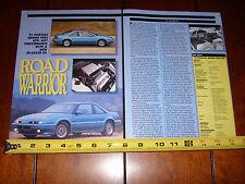 1991 PONTIAC GRAND PRIX GTP  - ORIGINAL  ARTICLE