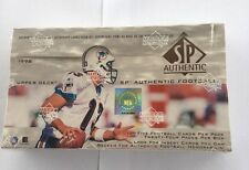 1998 SP Authentic Factory Sealed NFL Football Hobby Box Manning, Moss Rookies?