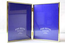 Fotorahmen/ Bilderrahmen 2x 15x20 Aluminium Gold/Matt FINE METAL stehend