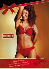 2008  BARBARA PARIS   LINGERIE , Red BRA & PANTY  French  Magazine  PRINT AD