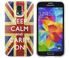 TPU Schutzhüllle Samsung Galaxy S5 mini Tasche Case Cover Keep Calm and carry on