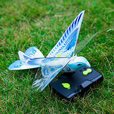 US Actual Hot 27MHz Blue Flying E-Bird Kid's RC Toy Flying Bird Remote Control