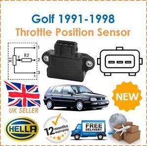 For VW Golf MK3 1H1 2.0 GTi 16V 1991-1998 HELLA Throttle Position Sensor New