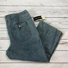 Covington Contour Waist Capri Jeans Size 16 Womens Cropped 901 Antique Wash