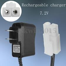 DC 7.2V RC Car Ni-CD Ni-MH Battery Pack Rechargeable Wall Charger Adapter Plug
