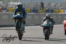 Romano Fenati mano firmato FOTO 12X8 VR46 TEAM KTM MOTO3 2015 16.