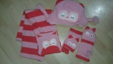 Sainsbury girls Owl hat and scraf and gloves Aged 5 Yrs