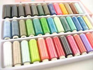 Strong 39 Mixed Colour Hand Machine Sewing Thread Spool Gold Silver Thread Art