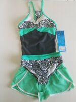 Girls' Tankini Swimsuit Set with Shorts - Green - Size 7 - R-Way by ZeroXposur