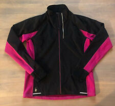 Smartwool Women's PhD Run Divide Zip Jacket M Medium Black And Pink EUC