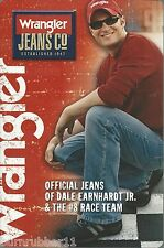 "2006 DALE EARNHARDT JR ""WRANGLER JEANS CO"" #8 NASCAR WINSTON CUP POSTCARD"