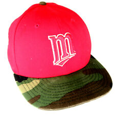 Minnesota Twins New Era Fitted Size 7 Camo Red Hat - 59Fifty