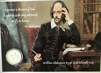 William Shakespeare £2 coin A5 display