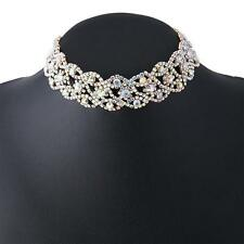 Crystal Rhinestone Pendant Choker Collar Necklace Lovely Wedding Jewelry HF CA