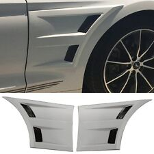 Exterior 3D Style Car Front Side Fender Vent Grey Trim PP For 15-17 Ford Mustang