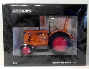 Minichamps 1/18 Scale 109 153072 - 1953 Hanomag R28 Traktor - Orange