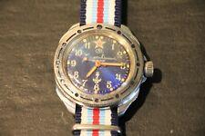 Vostok Komandirskie U-Boot submarine watch no date no amphibia