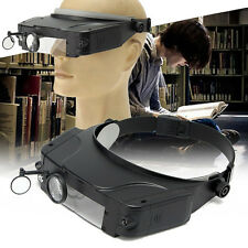Head-wearing Repairing Magnifier Head Band Loupe Magnifying Glass With LED Light