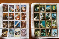32 History of Space Mini Postage Stamps - Umm Am Qiwain Unused
