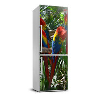 Removable Magnetic Refrigerator Sticker Self Adhesive Africa Macaw parrots